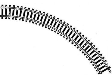 Fleischmann H0 6025 Gebogenes Gleis R = 357,5